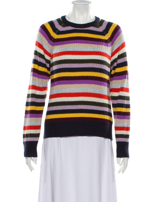 Ganni Cashmere Striped Sweater Blue