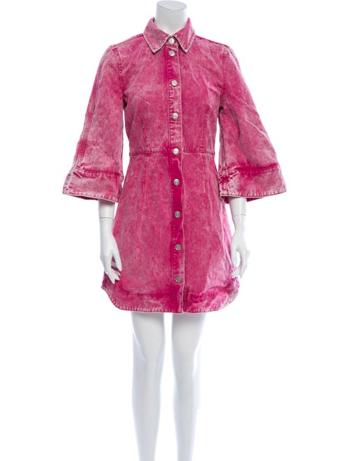 Ganni Mini Dress Pink