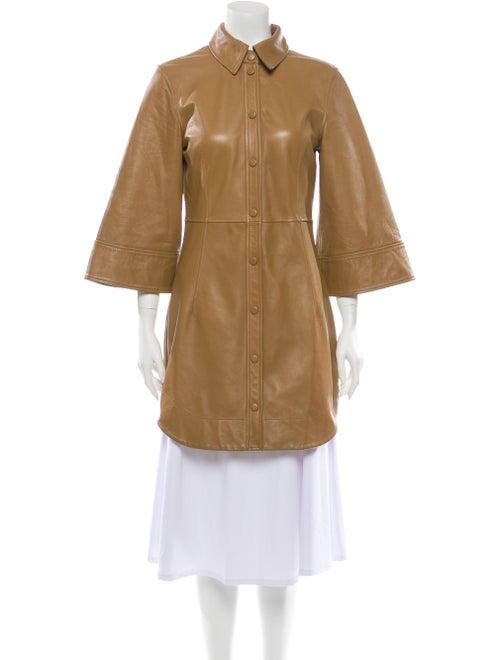 Ganni Lamb Leather Mini Dress