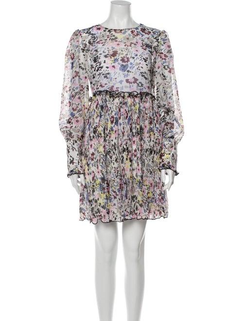 Ganni Floral Print Mini Dress