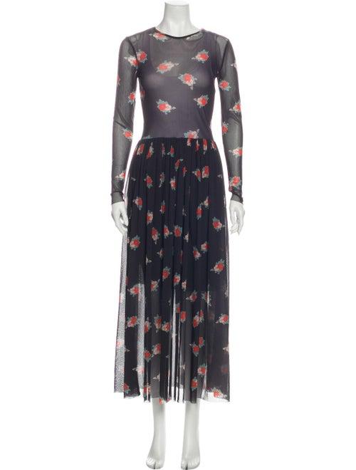 Ganni Floral Print Long Dress