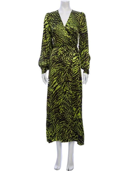 Ganni Silk Long Dress w/ Tags Black