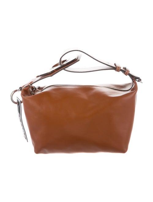 Ganni Leather Crossbody Bag Brown