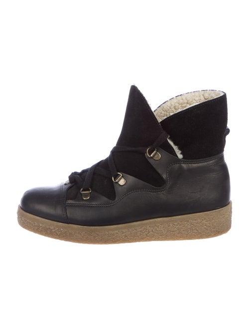 Ganni Suede Boots Black