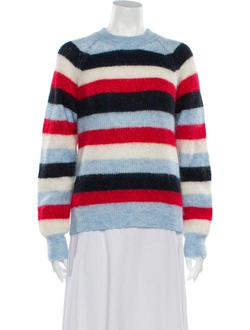 Ganni Striped Crew Neck Sweater