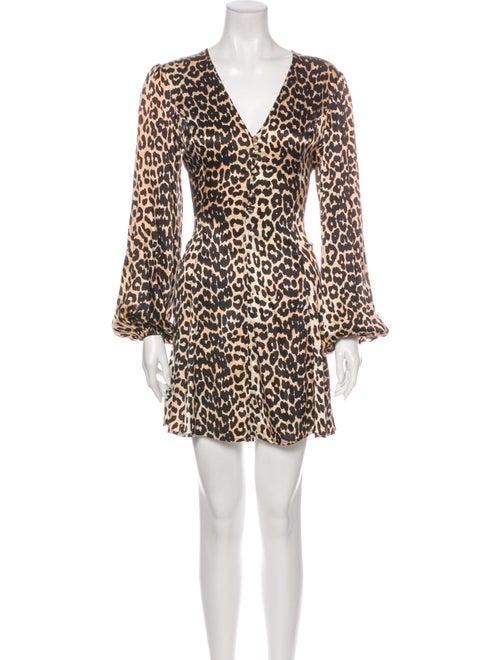 Ganni Animal Print Mini Dress