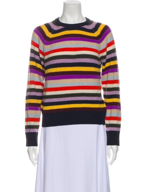 Ganni Wool Striped Sweater Wool