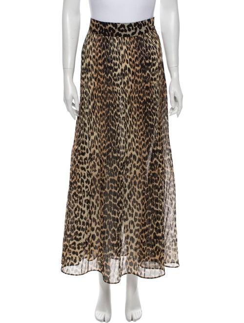 Ganni Animal Print Midi Length Skirt