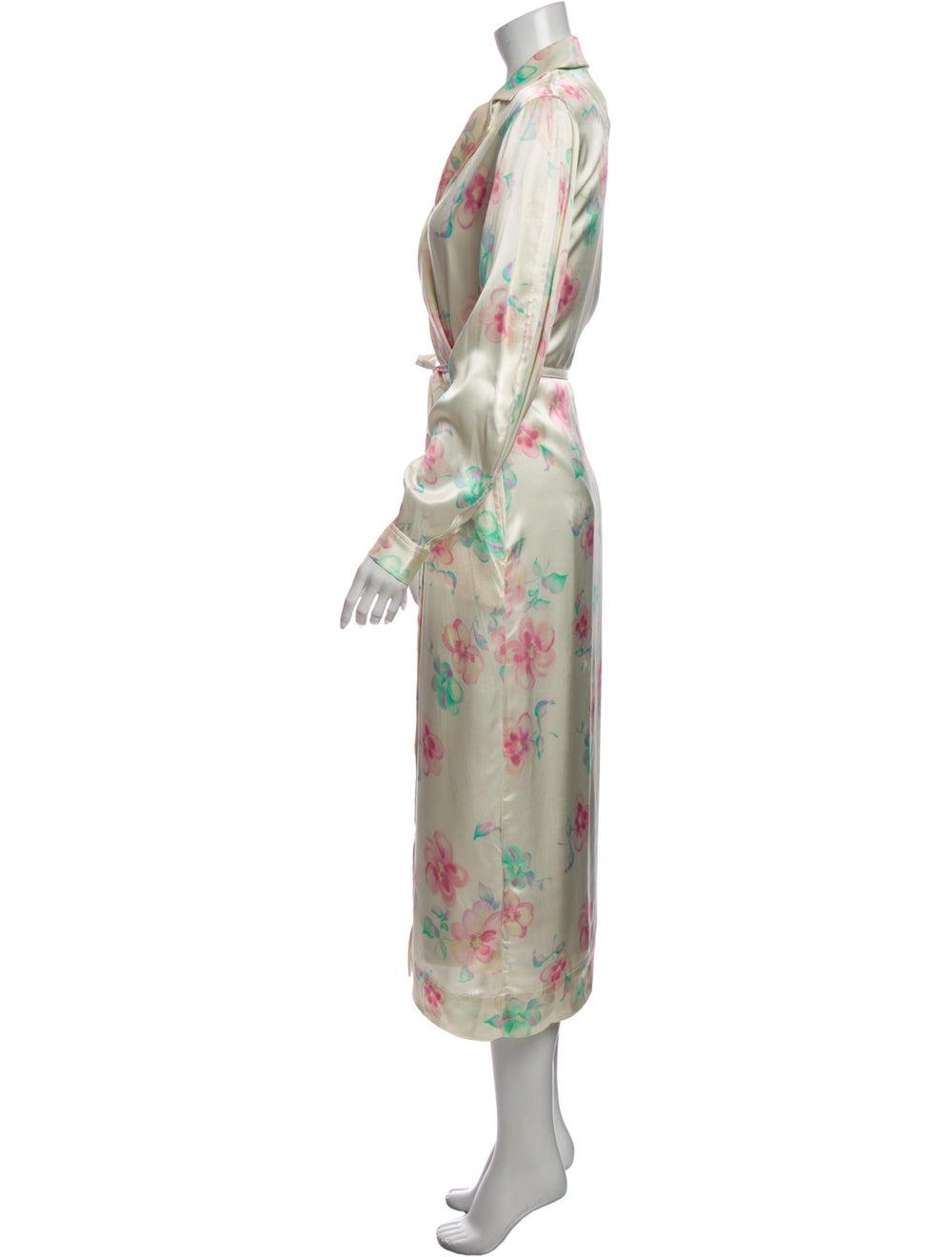 Ganni Floral Print Trench Coat - image 2