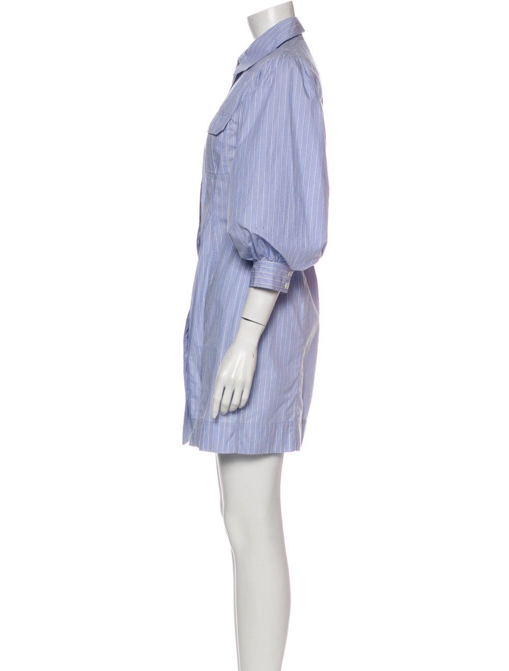 Ganni Striped Mini Dress Blue - image 2