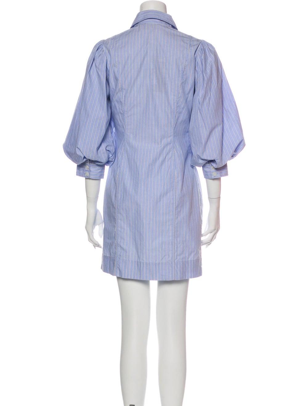 Ganni Striped Mini Dress Blue - image 3
