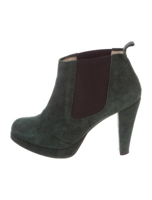 Ganni Suede Boots Green