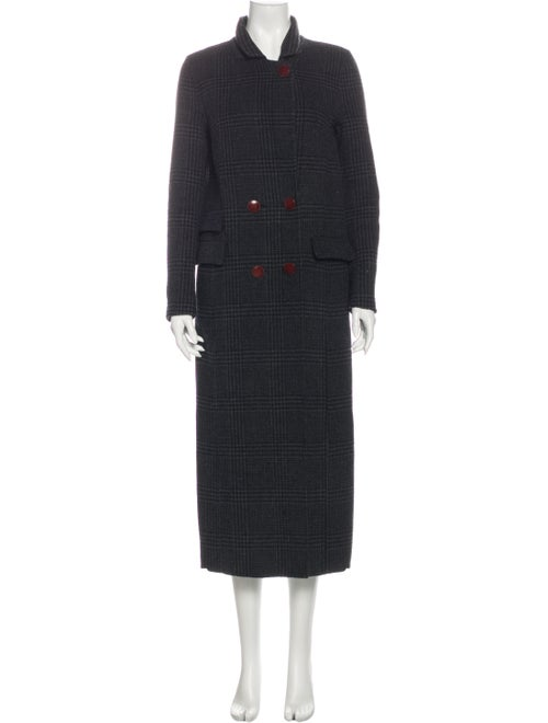 Ganni Driggs Wool Coat Grey