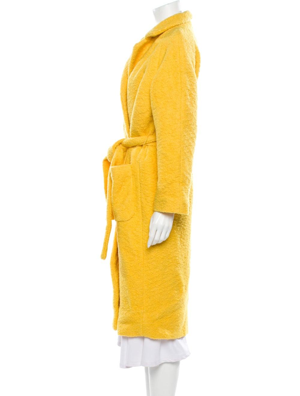 Ganni Faux Fur Coat Yellow - image 2