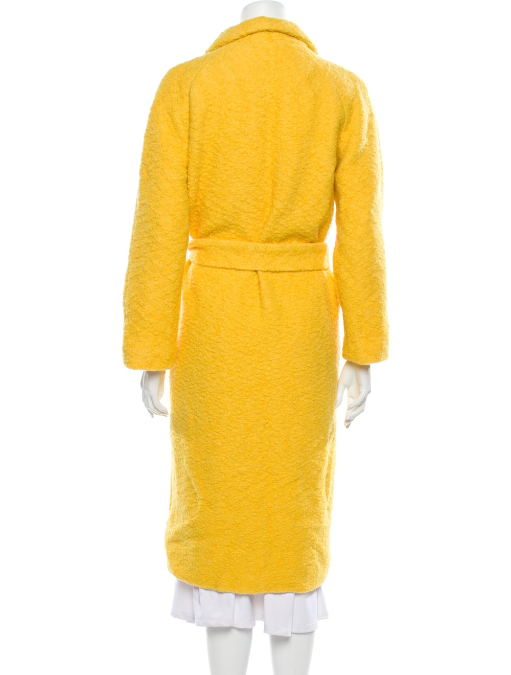 Ganni Faux Fur Coat Yellow - image 3
