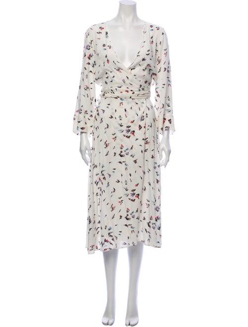 Ganni Printed Midi Length Dress White - image 1
