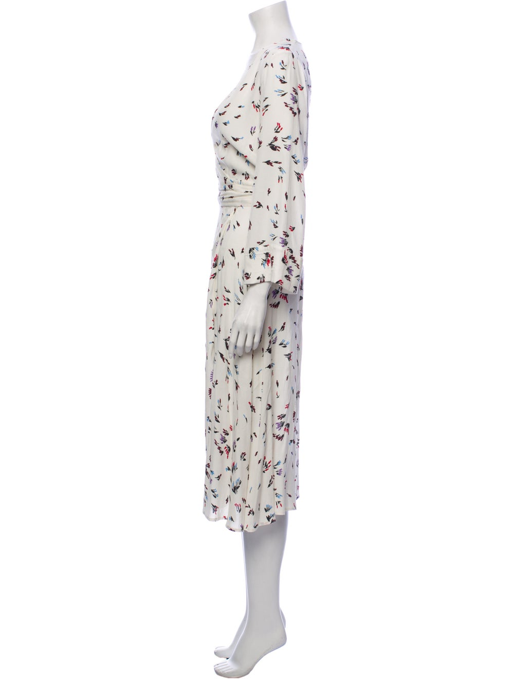 Ganni Printed Midi Length Dress White - image 2