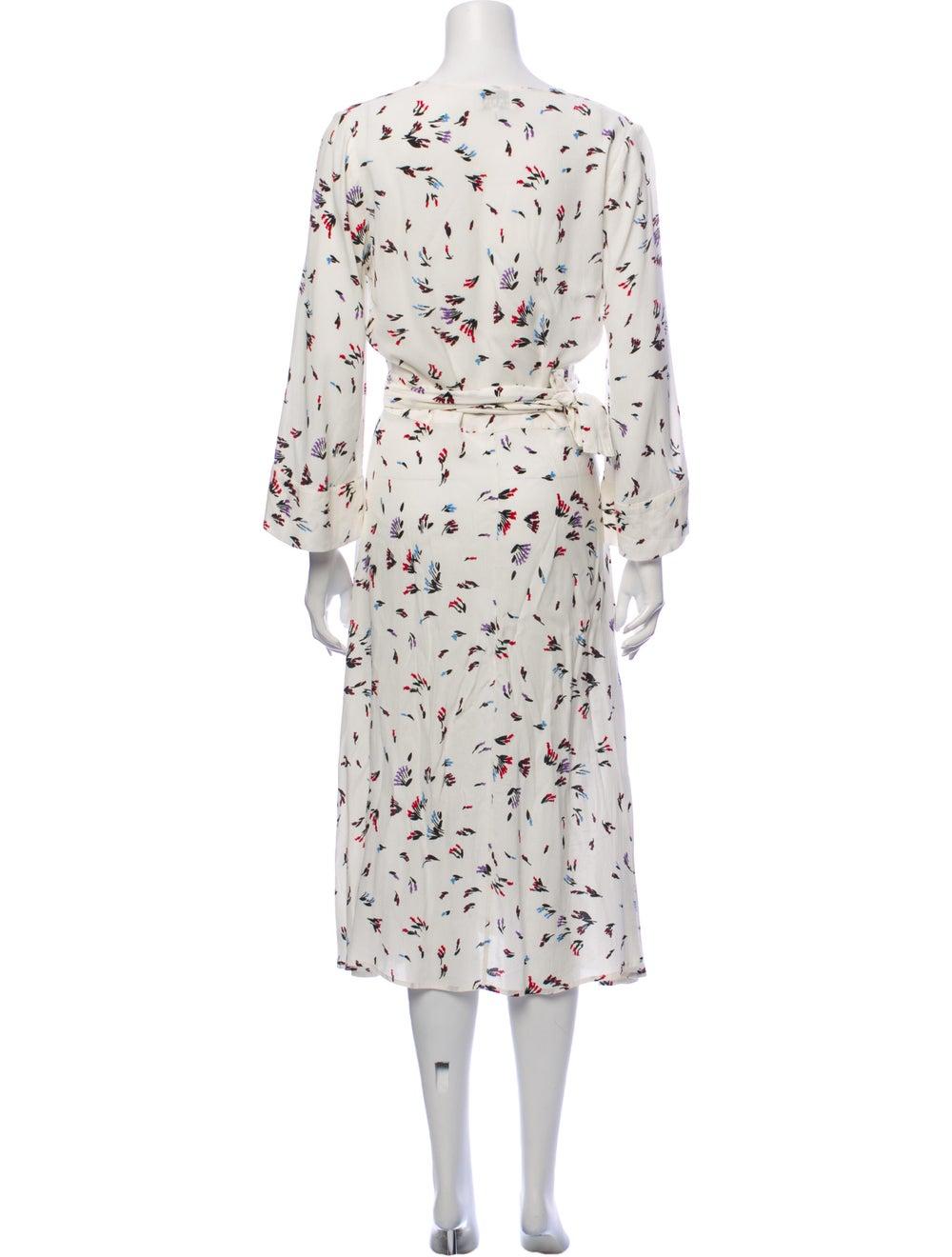 Ganni Printed Midi Length Dress White - image 3