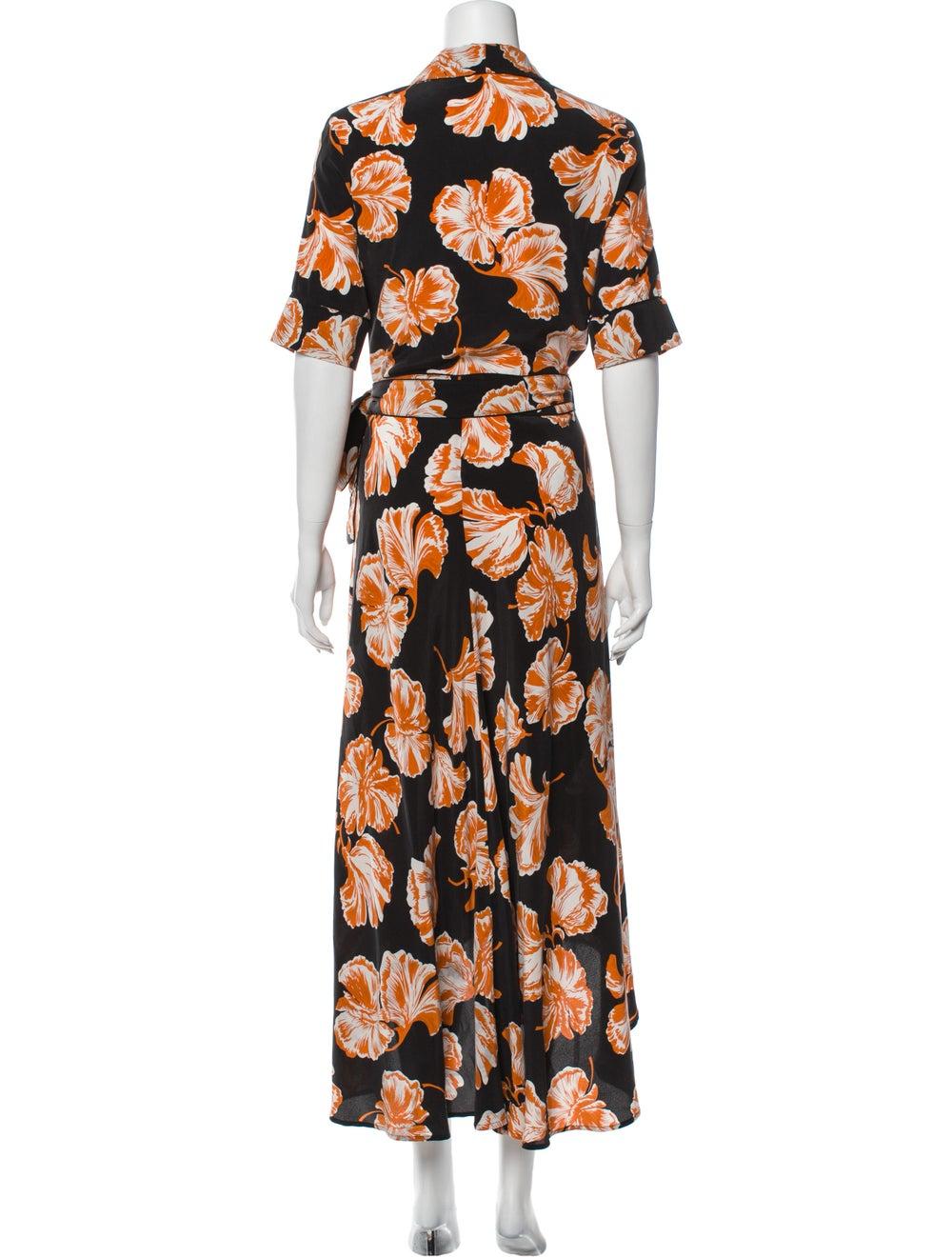 Ganni Silk Long Dress Orange - image 3