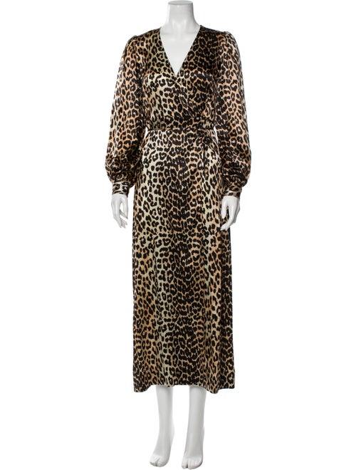 Ganni Silk Long Dress