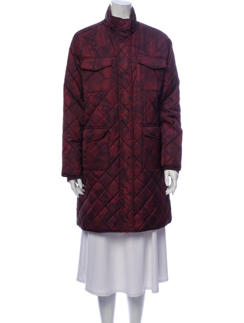 Ganni Printed Coat Brown