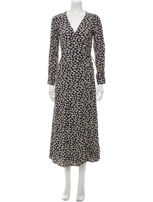 Ganni Printed Midi Length Dress