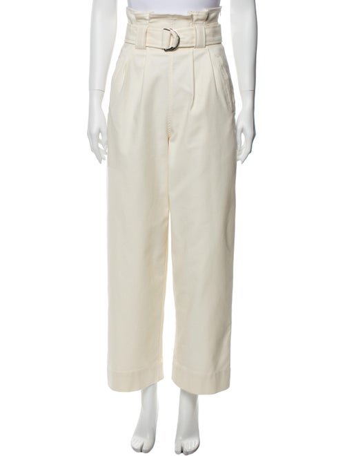 Ganni Wide Leg Pants White