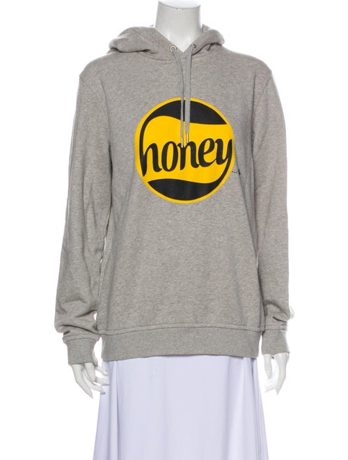 Ganni Graphic Print Crew Neck Sweatshirt Grey