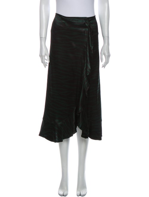 Ganni Midi Length Skirt Green