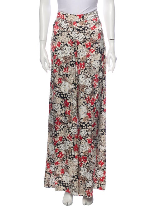 Ganni Floral Print Wide Leg Pants w/ Tags