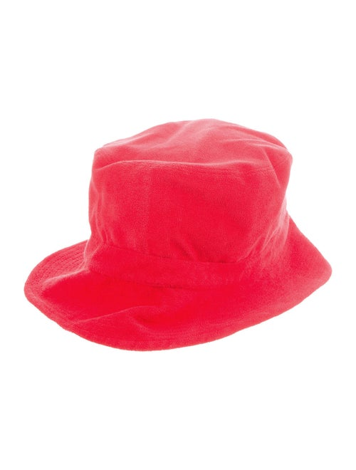 Ganni Terry Cloth Bucket Hat Red