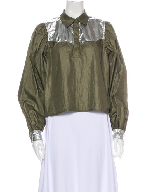 Ganni Performance Jacket Green