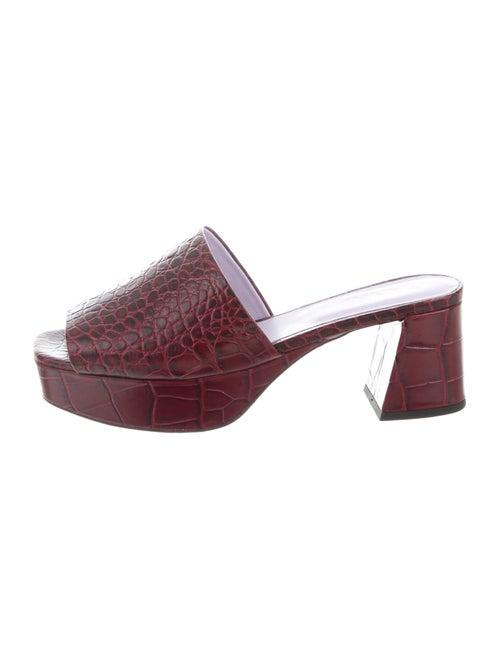 Ganni Embossed Leather Slides
