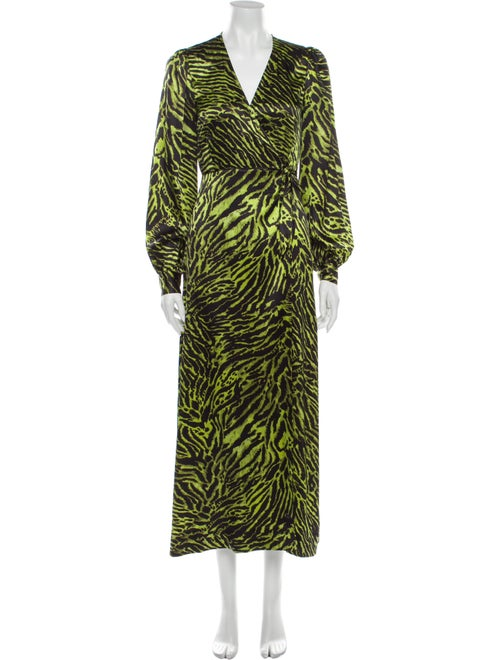 Ganni Silk Long Dress w/ Tags Green