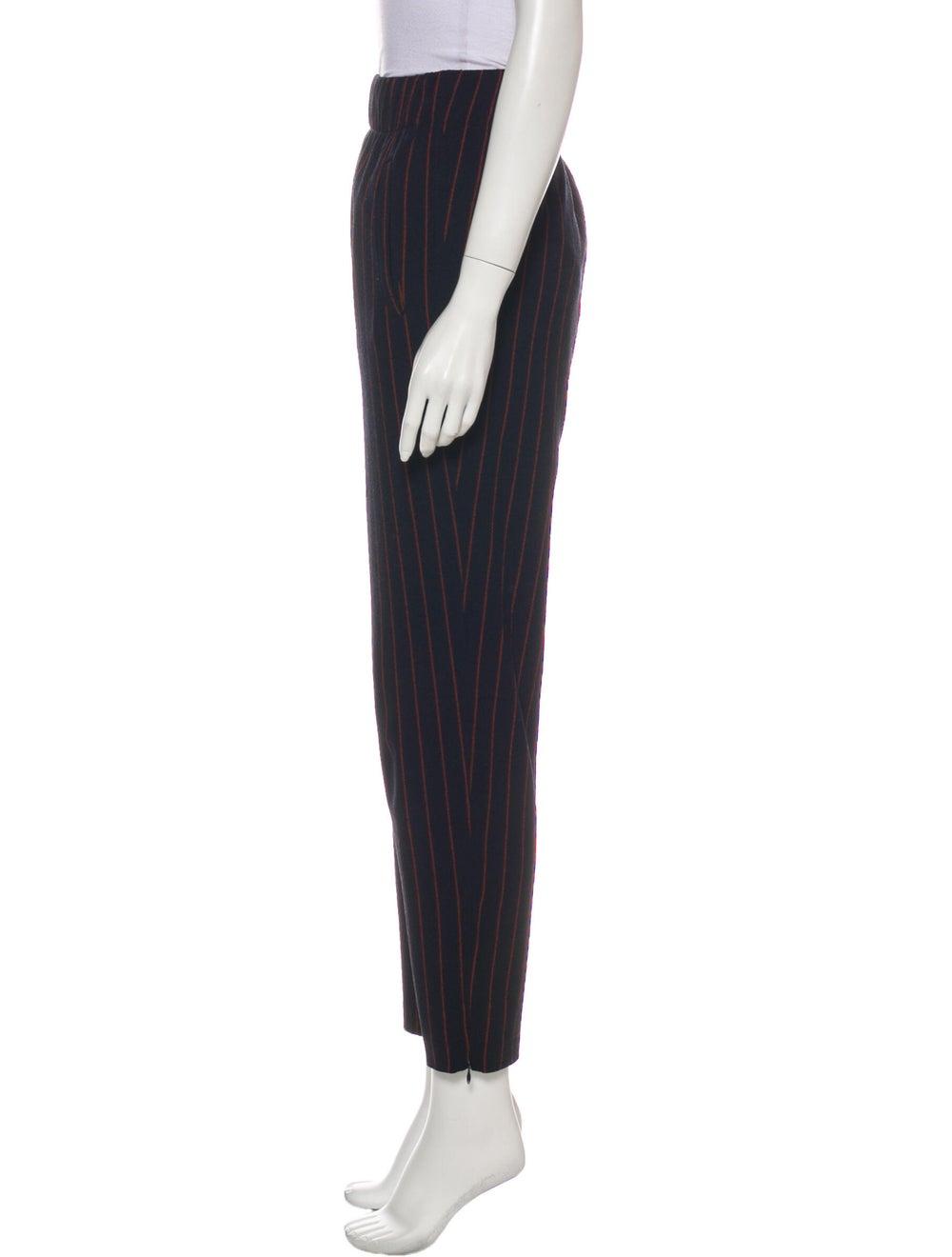 Ganni Striped Straight Leg Pants Blue - image 2