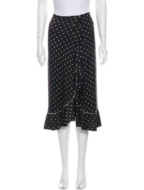 Ganni Silk Midi Length Skirt