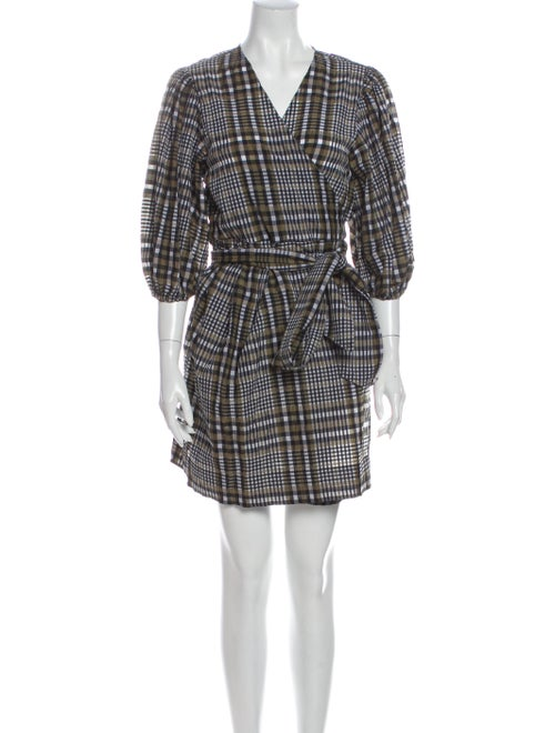 Ganni Seersucker Check Dress Mini Dress w/ Tags Gr