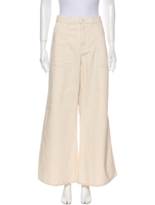 Ganni High-Rise Wide Leg Jeans