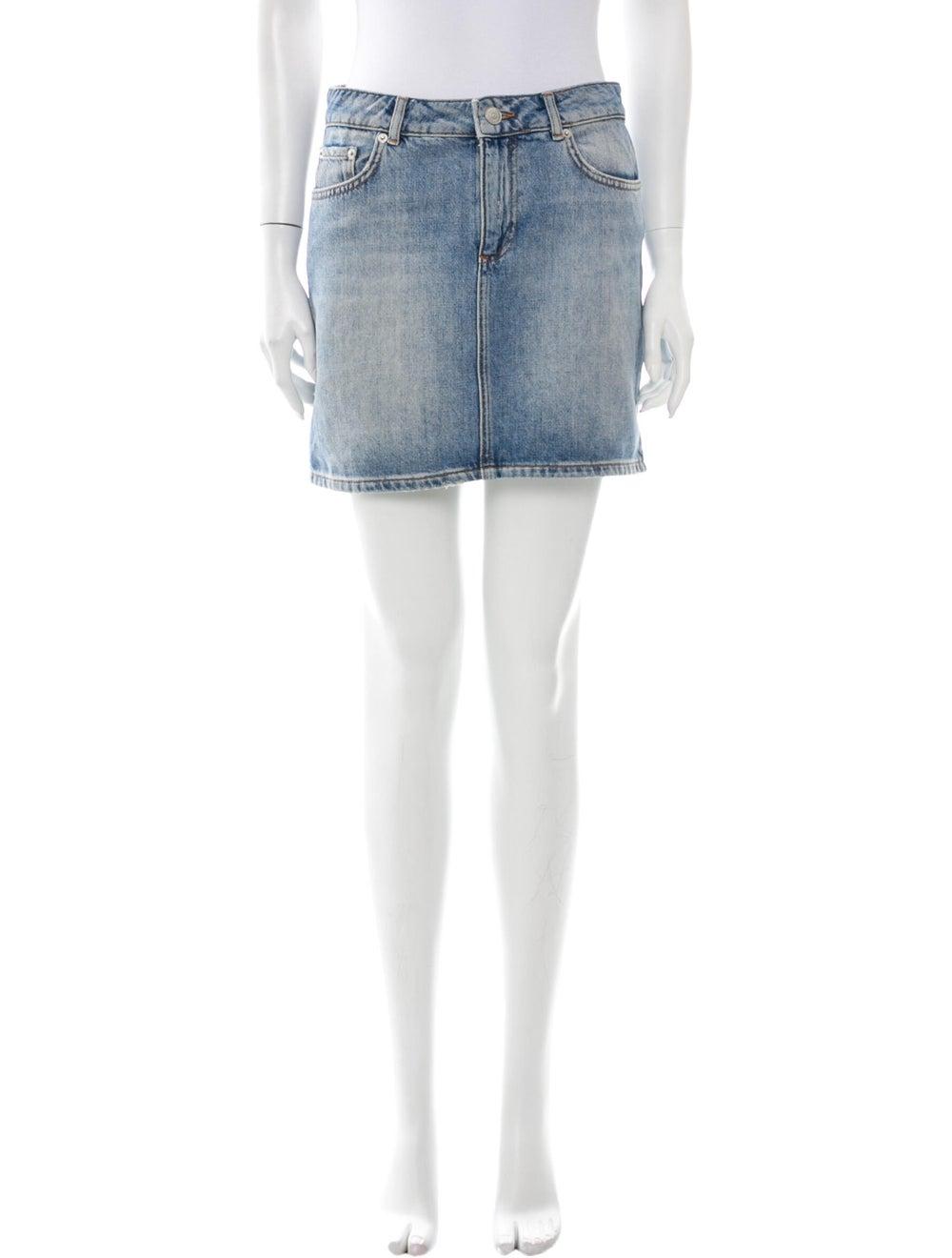 Ganni Mini Skirt Blue - image 1