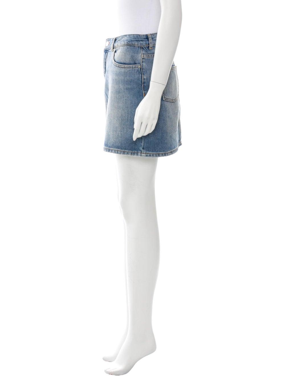 Ganni Mini Skirt Blue - image 2
