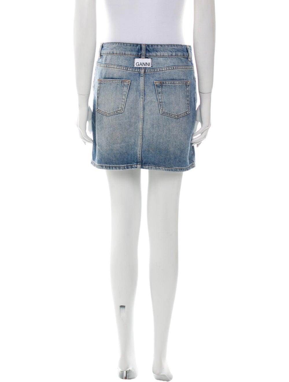 Ganni Mini Skirt Blue - image 3