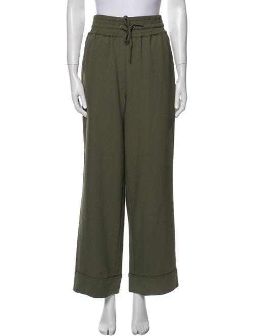 Ganni Wide Leg Pants Green - image 1