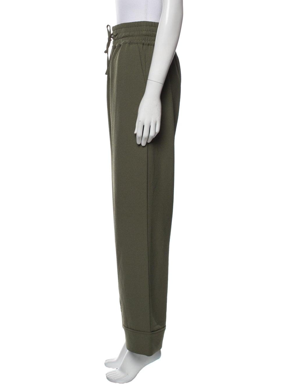 Ganni Wide Leg Pants Green - image 2