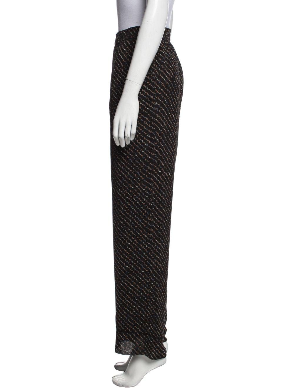 Ganni Striped Wide Leg Pants Black - image 2