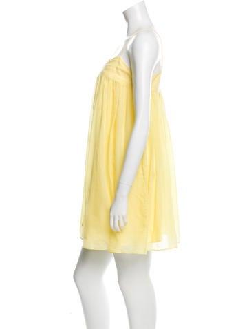 Decollete Neck Mini Dress