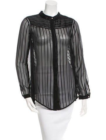 Zimmermann Sheer Button-Up Top w/ Tags None