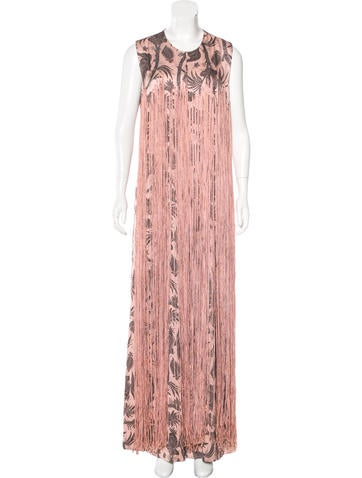 Zimmermann Printed Fringe-Trimmed Jumpsuit w/ Tags None