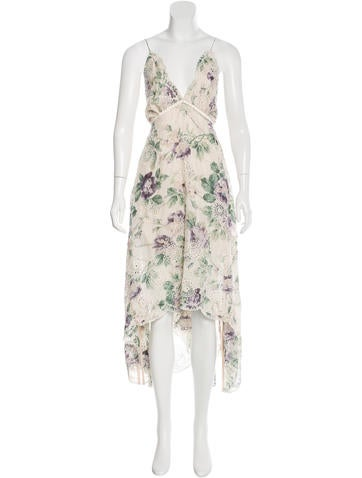 Zimmermann Eyelet Floral Print Dress