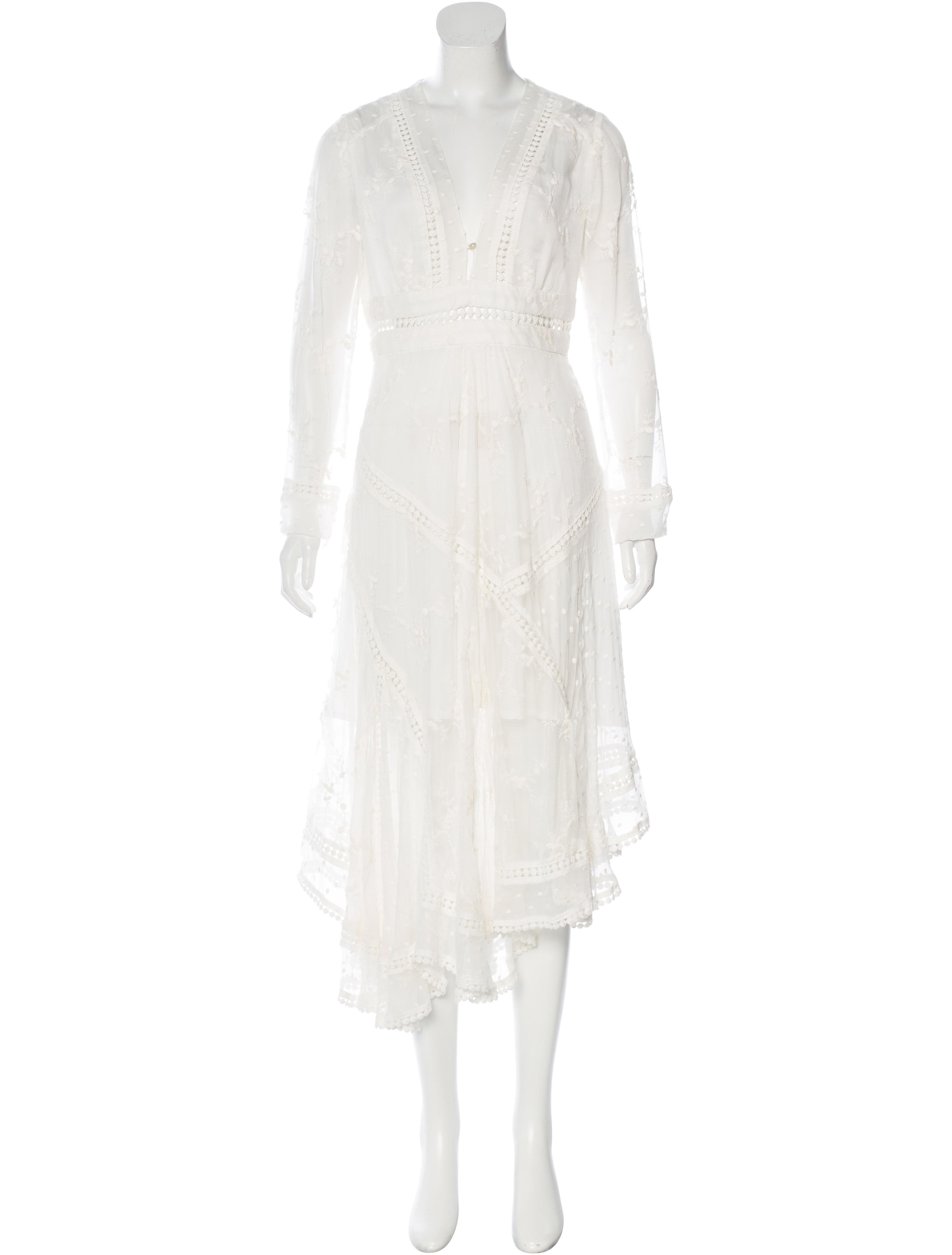 Zimmermann silk embroidered dress clothing wzi
