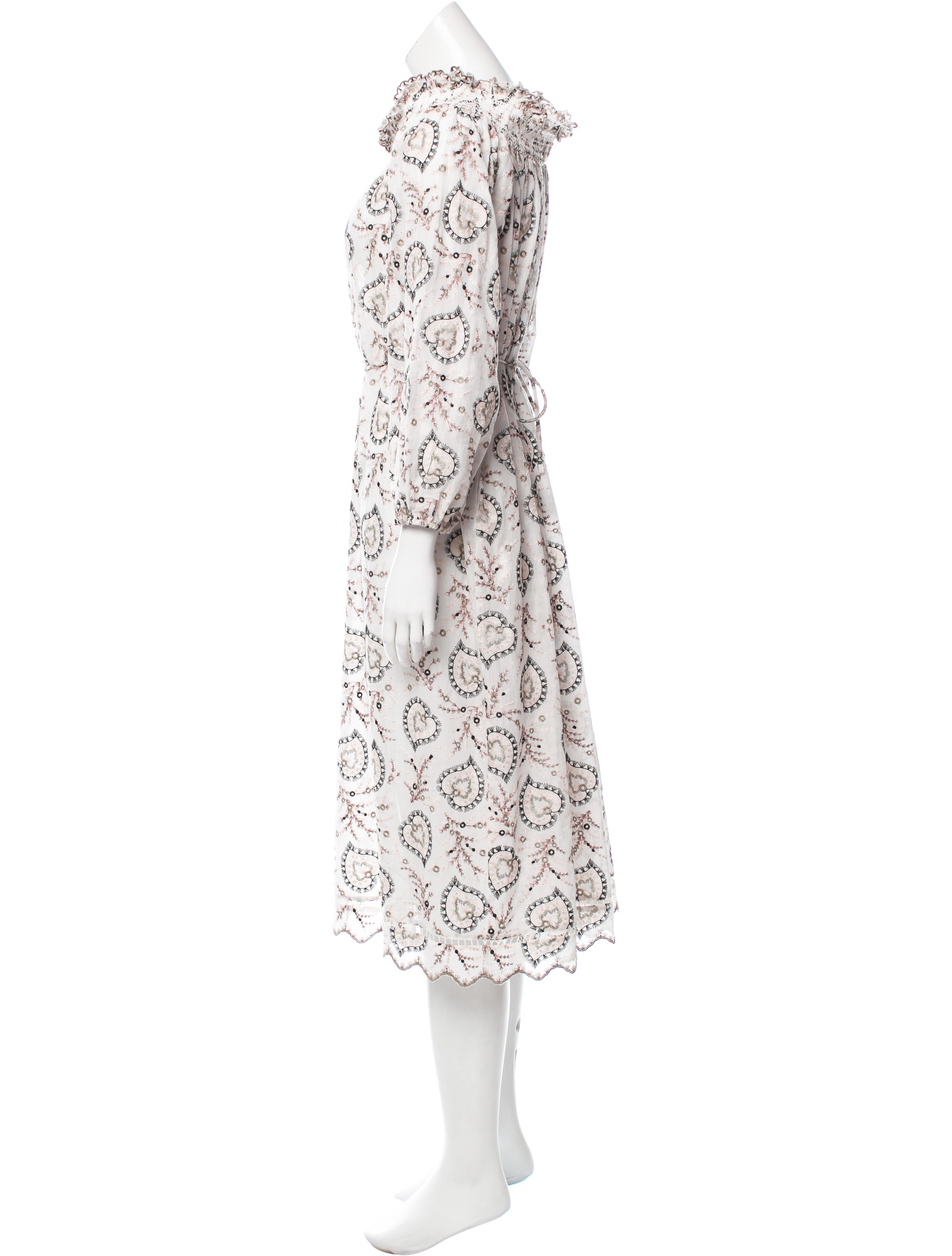 Zimmermann embroidered midi dress w tags clothing